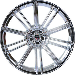 4 Gwg Flow 22 Inch Staggered Chrome Rims Fits Jeep Grand Cherokee 2000 2018