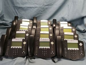 Lot Of 12 Polycom Soundpoint Ip 650 Business Phone 2201 12630 001 W base 1496
