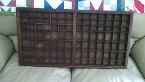 Vintage 1940 S American Type Founders Co Wooden And Metal Letter Press Drawer