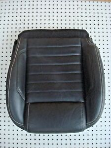 Oem 11 14 Ford Mustang Driver Seat Bottom Black Leather W cushion