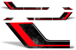 Ford F150 Rally Race Stripes Side Graphic Kit Truck Bed Decal Set 09 14 Red Blk
