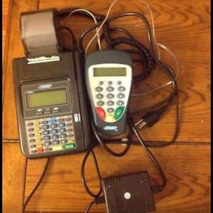 Free Shipping Hypercom T7plus Credit Card Reader Machine W Power Supply