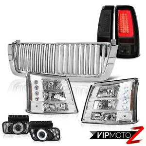 2003 2006 Chevy Silverado Euro Clear Sport Grille 1pc Headlamps Tail Lamps Fog