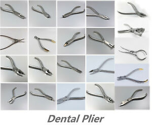Dental Orthodontic Pliers Surgical Forceps Removing Placement Cutting Stainless