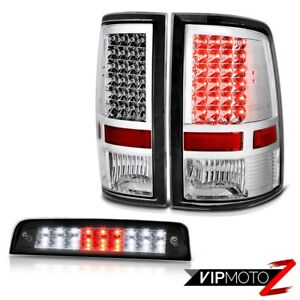 09 18 Ram 1500 2500 3500 Slt Raven Black High Stop Lamp Tail Lamps High Power
