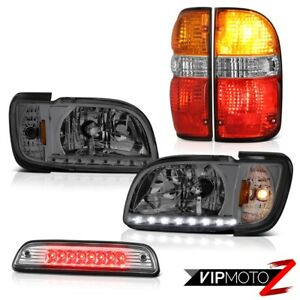 01 04 Toyota Tacoma Limited 3rd Brake Lamp Wine Red Taillights Headlights Bumper