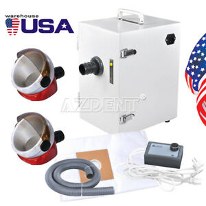 Dental Industry Digital Single row Dust Collector Vacuum Cleaner 2 Suction Base