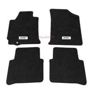 For 07 12 Nissan Altima 4dr Black Nylon Floor Mat Carpet Thwartwise Nismo Emblem