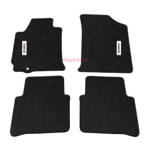 For 07 12 Nissan Altima 4dr Black Nylon Floor Mat Carpet W Metal Nismo Emblem
