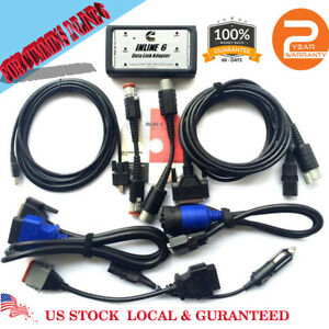 Data Link Adapter Full 8 Cable Heavy Duty Diagnostic Scanner For Cummin Inline 6