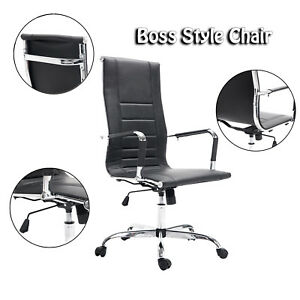Pu Leather Office Desk Task Computer Chair Boss Executive Luxury Chair Seat