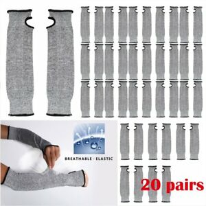 20 Pair Breathable Nylon Glove Anti cut Wear resistant Work Protective Sleeve Su