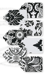2500 Assorted Black White Paper Price Tags 1 1 16 X 1 String Merchandise