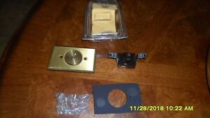 Hubbell 5236 Brass Floor Outlet Cover 060 Brass Plate 15 Amp 125v Single Raco