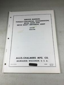 Allis Chalmers Hd11ep Tractors Transmission Bevel Converter Service Manual