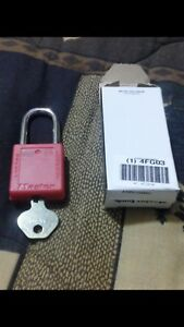 Lot Of 6 Master Lock 410red Safety Lockout Padlock
