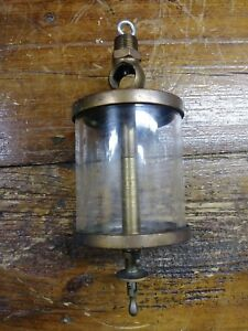 Very Large Oiler 1910 1920 Brass Antique American Lub r Co 9 5 Tall