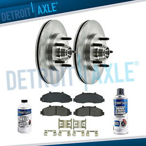 Front Brakes Rotors Ceramic Brake Pads For 2000 2001 2002 2003 Ford F150 2wd