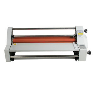 17 110v Roll Laminator Speed Adjustable Four Roller Hot cold Laminating Machine
