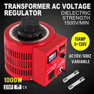 Variac Transformer Variable Ac Voltage Regulator 1000w 0 130v Ac 110v 10amp