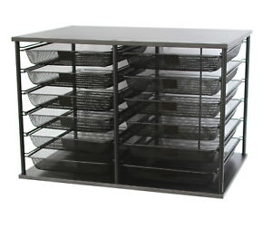 School Smart Mesh Desk Organizer 12 Trays 23 9 10 X 15 3 5 X 16 1 10 Inches