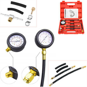 Fuel Injection Pump Injector Tester Pressure Gauge Gasoline 0 100 Psi 0 7 Bar