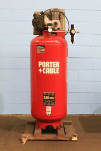7hp Porter Cable Cpl7060v 10 Air Compressor 240 Volt 1 Phsae 60 Gallon Tank