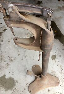 Vtg Antique Milford Rivet Co Foot Operated Brake Riveter Press Grommet Machine