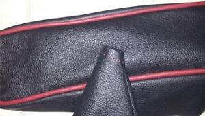 Mgb All Leather Armrest And Shift Boot Combo Black Red