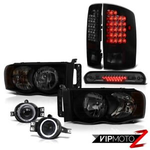 2002 2005 Dodge Ram 1500 St Headlamps Fog Lamps Third Brake Lamp Tail Assembly