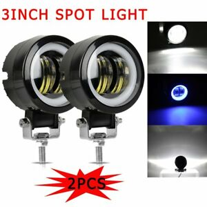 2pcs 3inch Led Work Light Spot Offroad Driving Fog Lamp Motorcycle Boat 4x4 Atv