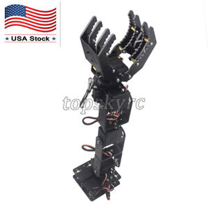 6 Dof Robot Mechanical Arm Claw Hand Clamp Manipulator Frame For Arduino Diy Usa