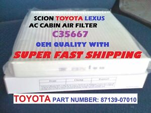 For Scion Toyota Ac Cabin Air Filter Avalon Camry Tundra Sienna Prius Fast Ship