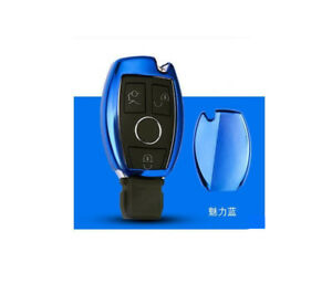 Blue Car Remote Control Key Case Cover For Gla Glc C S E Series A Key To Start