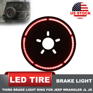 Spare Tire Brake Light Led Third Brake Light Lamp Ring For Jeep Wrangler 86 2017