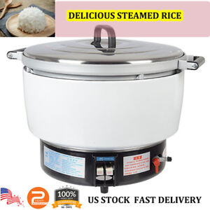 Commercial Steam Rice Cooker Cooking Pot 50 Cups 10l Capacity 2 8kpa Natural Gas