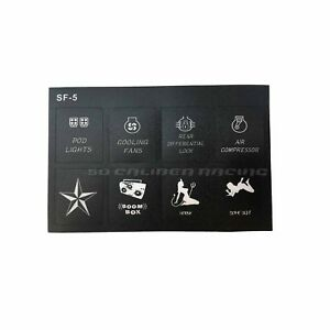 Universal 6 Switch Touch Panel For Rv s Campers Trucks With 12 Volts Lightings