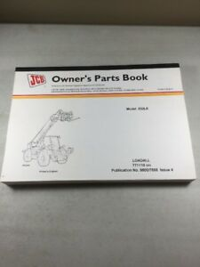 Jcb Model 532le Loadall Parts Book Manual