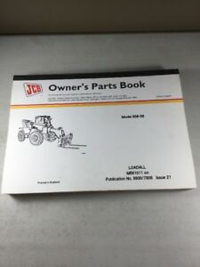Jcb Model 506 36 Loadall Parts Book Manual