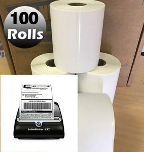 100 Rolls 1744907 Direct Thermal Shipping Labels 4x6 Compatible Dymo 4xl Printer