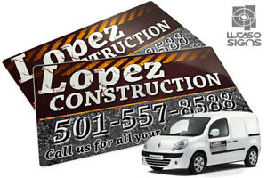 Car Magnets With Custom Graphics Door Signs Outdoor Pair Set 24 X 12 Each
