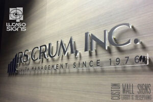 Wall Signs And Logos For Receptions Lobby Offices Custom Indoor And Outdoor