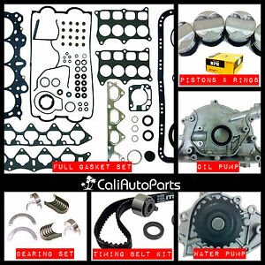 97 01 Acura Integra Type r 1 8l Dohc B18c5 graphite Master Engine Rebuild Kit