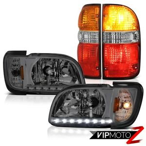 01 04 Toyota Tacoma 4x4 Bloody Red Tail Lights Smoked Headlights Bumper Assembly