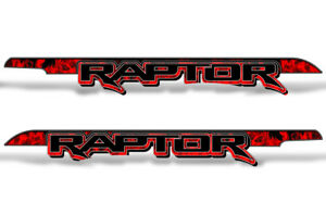62 X 7 25 Ford F150 Raptor Graphics Bed Decals Truck Stickers 15 18 Flames Red