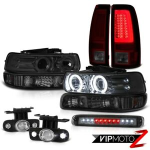 99 02 Silverado 3500 Taillamps Roof Cab Light Parking Headlamps Fog Lamps Led