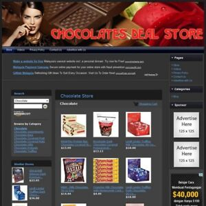 Chocolate Store Complete Work At Home Affiliate Website Free Domain hosting
