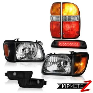 01 04 Toyota Tacoma 4x4 High Stop Light Red Rear Brake Lamps Headlamps Bumper