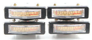 Vintage Simpson 1522 Vu Meter Level Indicator 2 1 2 Bezel Mount X 4 Pcs Lot