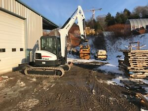 2012 Bobcat E50 Excavator 24 Bucket And Quick Coupler